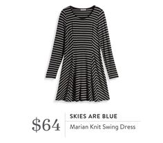 Skies Are Blue Marian Knit Swing Dress. I love Stitch Fix! A personalized styling service and it's amazing!! Simply fill out a style profile with sizing and preferences. Then your very own stylist selects 5 pieces to send to you to try out at home. Keep what you love and return what you don't. Only a $20 fee which is also applied to anything you keep. Plus, if you keep all 5 pieces you get 25% off! Free shipping both ways. Schedule your first fix using the link below! #stitchfix @stitchfix…