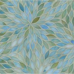 Ann Sacks Beau Monde Glass Mosaic -- Blossom in Aquamarine