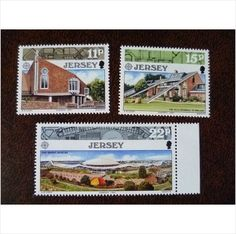 Jersey 1987 Europa Modern Architecture set mint postage stamps GB SG414-6 CEPT