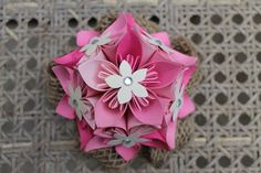 Pink Ombré Corsage  Wedding Corsage  Prom by EverBloomsFlowers