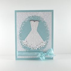 Bridal shower card, Wedding shower card, bridal go Wedding Shower Cards, Wedding Shower Invitations, Wedding Cards, Invites, Wedding Congratulations, Dress Card, Engagement Cards, Wedding Anniversary Cards, Cricut Cards