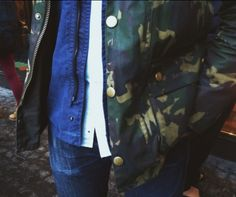 Barbour bedale waxed camo jacket.