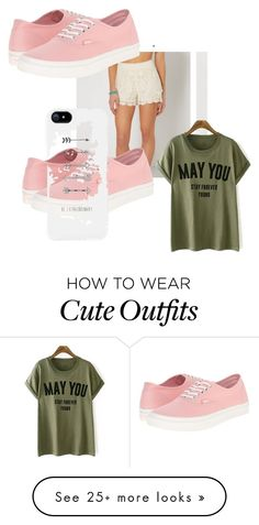 """""""This is a really simple and still girly outfit"""" by lthebeau on Polyvore featuring Vans"""