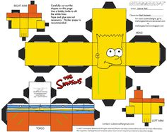 PaperToy_The Simpsons - Bart Simpson