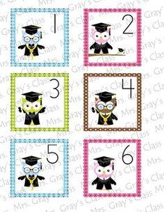 Owl Themed Calendar Cards - May