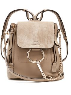 3bc9ff3675e7 Click here to buy Chloé Faye mini leather and suede backpack at  MATCHESFASHION.COM Sac