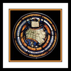 The Ambras Castle stained glass sundial 1550 Austria