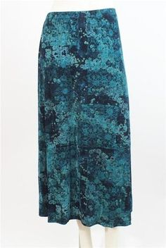 Coldwater Creek Turquoise Navy A Line Career Skirt Size Petite P XL