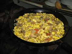 Ackee & Saltfish. Some compare it to scrambled eggs. Nope. There is really no comparison. And there is never enough to go around!