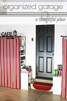 Use tab curtains to cover up unsightly wire shelving. - Use tab curtains to cover up unsightly wire shelving. Metal Storage Shelves, Wire Shelving, Diy Interior, Interior Design, Diy Hacks, Ikea Hacks, Easy Home Upgrades, A Thoughtful Place, Tab Curtains