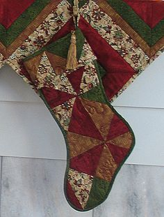 Free Quilt Pattern: Holiday Lights Christmas Stocking from EZ Quilting at Simplicity.com