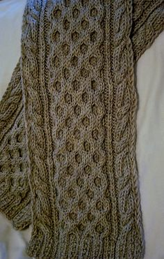 Knitting Pattern Name: Honeycomb & Cruller Scarf Pattern by: Deborah Lawless