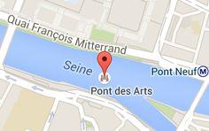 Pont des Arts: carte