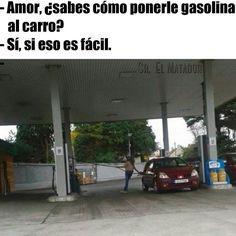 Es fácil ponerle gasolina a un carro aparentemente. #SrElMatador http://www.srelmatador.com #Foto