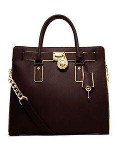 Large Hamilton Trimmed Tote by MICHAEL Michael Kors at Neiman Marcus.