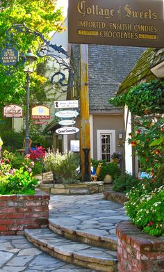"""the tree growing right in the middle of the store! remember that? """"Cottage of Sweets"""", Ocean Ave Carmel-by-the-Sea, CA"""