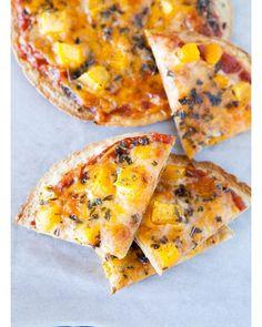 Mango Tortilla Pizzas #mango #basil #tortilla #pizza #pizzas #food  #recipe