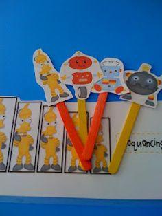 Robot fun from Preschool Printables