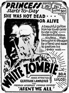 White Zombie. Movies. ad