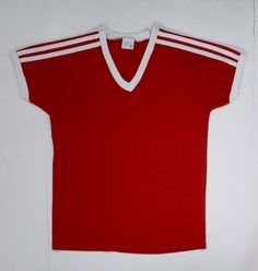 70s 80s Ringer T Shirt V neck JCPenney S soft by JaybrrdsWhatnots