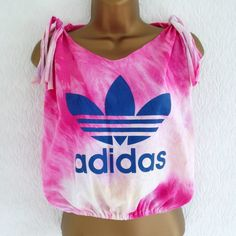 Reworked Adidas Drop Armhole Crop Top Tie Dye Hipster Ibiza Trefoil M 10 12 Tie Dye Crop Top, Other Woman, Ibiza, Athletic Tank Tops, Hipster, Drop, Adidas, Crop Tops, Best Deals