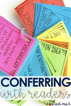 Have you started conferring with readers during your reader's workshop yet? It makes such a huge difference with learners. Here are some tips for teachers to get started and resources to help them put conferring into action!