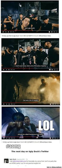 When Jay Park does the subs for his own MV'S LOL