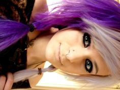 purple and blonde