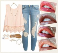 Which lipstick color would you wear with this outfit?  Please leave your choice.