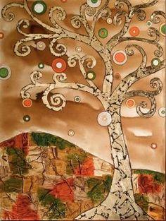 Árbol Duende Cuadro original del autor Vicente Soriano, pintado sobre lienzo en técnica mixta.