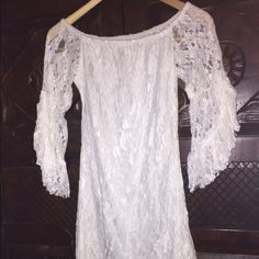Lace lined off shoulder dress size small Lace size small off the shoulder lined dress Dresses Mini