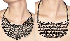 Word necklace - absolutely floored.