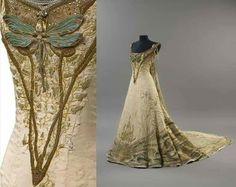 """Bord de Rivière au Printemps"" gown, ca. 1900. Designed by Victor Prouvé and Fernand Courteix and exhibited at the Galerie des Artistes Modernes"