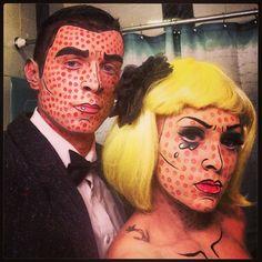 Pop art comic makeup Halloween costume