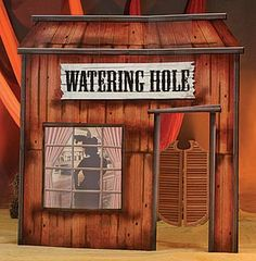 This fun old West watering hole decoration is a fun way to complete your Wild West theme.