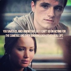 The Hunger Games - Catching Fire Hunger Games Movies, Hunger Games Mockingjay, Katniss And Peeta, Hunger Games Trilogy, Catching Fire Quotes, Hunger Games Catching Fire, Great One Liners, Hunger Games Exhibition, Jenifer Lawrence