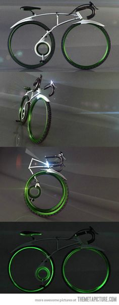 The coolest folding bicycle. Beautiful forms unfolded and folded.