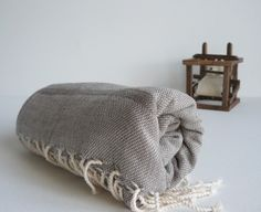 TurKish BaTh ToWel - BoHeMian PesHteMal - Grey - SoFt- I fell in love with turkish bath towels. Adam and I were arguing at The Parish Market about what they were because I thought they were scarves but they are so beautiful and luxurious. Next buy for the house! I love uniqueness!