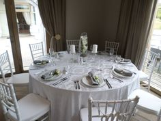 White Fleur Tablecloth. www.tableclothhiring.co.za