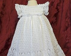 Vestido de bautizo/bendición y algodón blanco resbalón - 3 a 6 meses - listo a nave - 13134-G