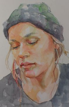Quick Sketch Portraits — Pam Wenger Watercolors Watercolor Portrait Painting, Watercolor Art Face, Watercolor Sketch, Portrait Art, Watercolor Illustration, Portrait Sketches, Face Sketch, Quick Sketch, Dark Fantasy Art