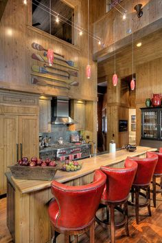 Note placement of paddles....   Cabin Design, Pictures, Remodel, Decor and Ideas - page 62