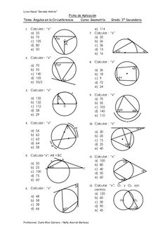 Cheat Sheet for Circle Theorems; including all theorems
