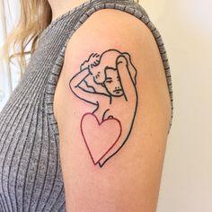 Pin-up tattoo by the crayoner