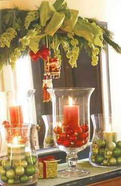 Country Christmas Decorating Ideas. Think Id do beige and whites to keep country theme  I agree!!