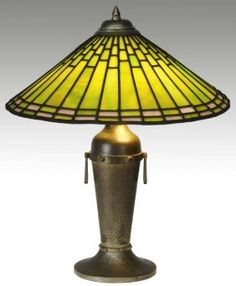 ROYCROFT Table Lamp Designed By Dard Hunter. Roycroft is located in East Aurora, NY, south of Buffalo.