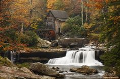 Glade Creek Mill, located in West Virginia's Babcock State Park deep in the Appalachian mountains.