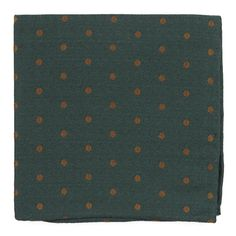 Dotted Hitch pocket square - Hunter Green | Ties, Bow Ties, and Pocket Squares | The Tie Bar