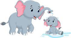 Childrens fabric cartoon mom and baby elephant fabric Cartoon Mom, Cartoon Photo, Cartoon Images, Cartoon Clip, Mom And Baby Elephant, Elephant Love, Mama Baby, Cute White Puppies, Elephant Fabric