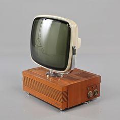 "1959 ""Lumavision"" | Design: Stig Lindberg | Plastic, Metal & Teak Veneer | Luxor Industri | Motala, Sweden"
